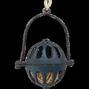 Dark Cottage Blue Cast Iron Hanging String Holder