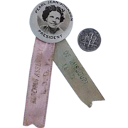 1948 Sommer Badge MFG. Co. Pinback for Rebekah Assembly International Order of Odd Fellows