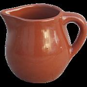 Dry Bottom Vintage Milk Chocolate Brown Ceramic Creamer
