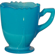 Children's Pressed Blue Glass Cup