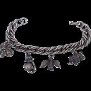 Animal Cat Poodle Bird Elephant Vintage 60s HobCo House of Borvani Charm Bracelet