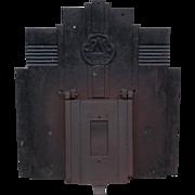 Art Deco Industrial Cast Iron Front Door Plaque