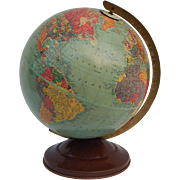 c1948 Vintage Replogle 10 inch Precision Globe Gustav Brueckmann Cartographer