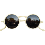 Circa 1930s Celluloid Cream Colored Sunglasses