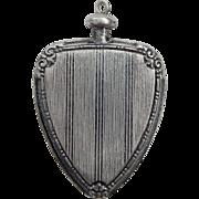 Art Deco Sterling Silver Scent Perfume Bottle Pendant