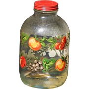 Hazel Atlas Vintage Pantry Jar with Red Metal Lid