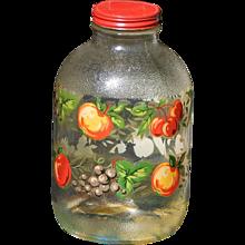 Hazel Atlas Vintage Pantry Jar with Red Metal Lid