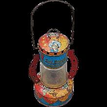 Roy Rogers Toy Tin Litho Cowboy Lantern No 90 Ohio Art Company 1950's Vintage