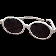 Cool Ray Polaroid 180 Sun Siren White Round Frame vintage Sunglasses