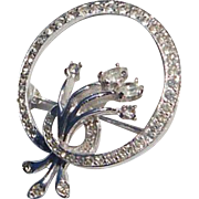Petite Kramer of New York Diamante Brooch Pin