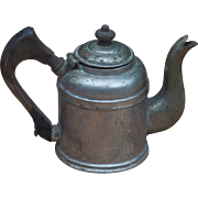 Burley & Company Hotel Dept Chicago Metal Over Copper Wood Handled and Lid Knob Tea Pot