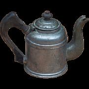 Burley & Company Hotel Dept Chicago Metal Over Copper Wood Handled and Lid Knob Tea Pot