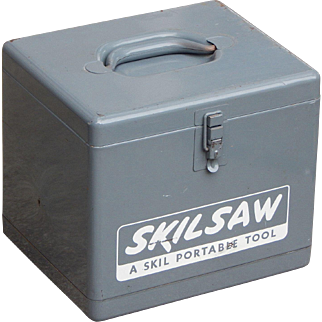 Vintage Skill Saw Metal Storage Box