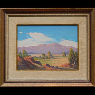 Original Acrylic on Primed Canvas Board Southwest Landscape Vintage Painting