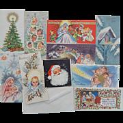 10 Unused Unsigned Beautiful Amalgamated Lithographers of America Local #1 Vintage Christmas Cards with Envelopes