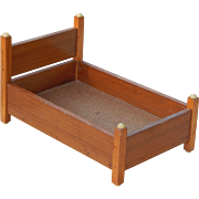 Handcrafted 15' Vintage Wooden Doll Bed