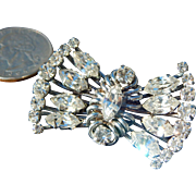 Diamante Rhinestone Vintage Bridal Wedding Brooch