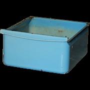 Vintage Robin's Egg Blue Enamel Refrigerator Drawer