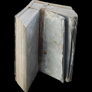 Vintage Metal Shingle Bundle Bookends Doorstop