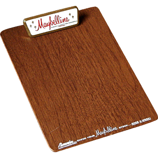 Mabelline Cosmetics Advertising Mid Century Vintage Clipboard