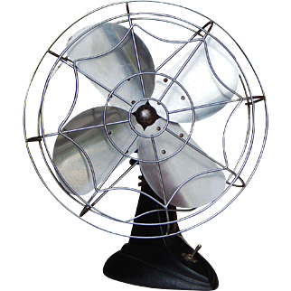 1940's Art Deco Mastercraft Table Fan