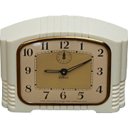 Gilbert Working Mid Century Art Deco Design Windup Vintage Alarm Clock