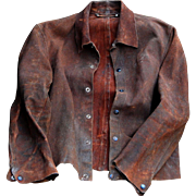 Vintage Guard Line Leather Welder Blacksmith Jacket