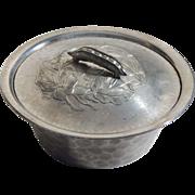 Vintage Pea Pod Lid Handle Everlast Forged Aluminum Covered Round Bowl