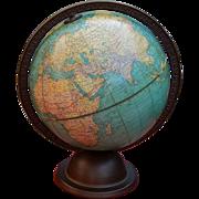 """9"""" Pre Nazi Expansion George F. Cram Co. 1935 ca. Terrestrial Globe"""