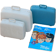 Vintage Barbie Luggage Suitcases and Midge Fashion Magazine