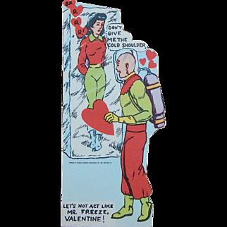 Unused 1966 Mr Freeze Vintage Paper Valentine National Periodical Publications Inc.