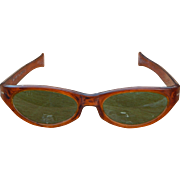 Cool-Ray Polaroid 125 Carmel/Green Vintage 1960's Sunglasses Retro