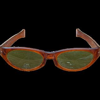 Cool-Ray Polaroid 125 Carmel/Green Vintage 1960's Sunglasses Retro