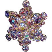 Confirmed Vintage 1960's Juliana D&E 3D Lavender Rhinestone Star Brooch Pin