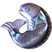 William Spratling Sterling Silver Abalone Fish Pin