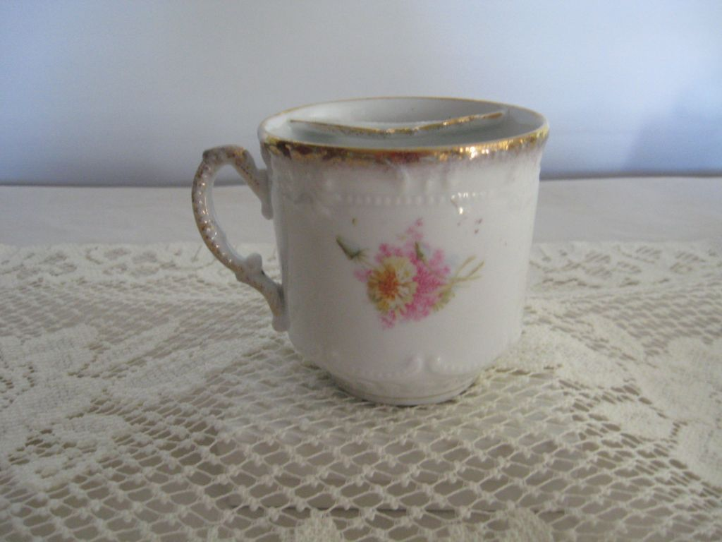 Hand Painted Mustache Cup Not Marked