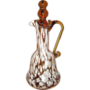 Amber Splatter Glass Cruet By Rainbow Art Glass Co.
