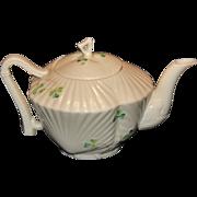 Belleek Shamrock Harp Teapot