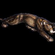 Large Goebel Black Panther Figurine
