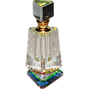 Beautiful Crystal Art Glass Perfume Bottle