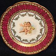 Austrian Cherub Portrait Plate