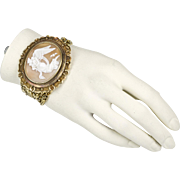 EXTREMELY RARE Victorian Antique 15K Gold Large Shell Cameo Bracelet   Big & Bold  Exquisite