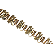 Vintage Bold Retro 14K Rose & Yellow Gold Bracelet  Heavy  Sophisticated  Top Quality