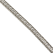 Vintage Art Deco Platinum Diamond 2.50ctw Line Bracelet  Full of Sparkle  RARE