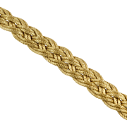 Vintage Retro 18K Gold Matte Braided Bracelet  Heavy  Gorgeous  Quality