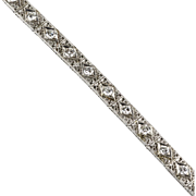 Vintage Edwardian Art Deco Platinum & 14K White Gold Diamond Bracelet  2.00ctw  Filigree  Classic  RARE