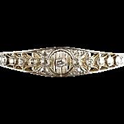 Exquisite Edwardian Platinum Gold Diamond 2.40ctw Bangle Bracelet   Fine Filigree Detail  RARE