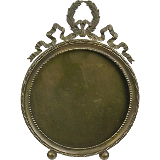 Antique French Bronze Picture Frame  Hand Made  Beautiful Detail & Design  One of Pair  RARE