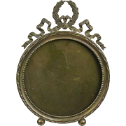 Antique French Bronze Picture Frame FQ  Hand Made  Beautiful Detail & Design  One of Pair   RARE