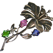 Stunning RARE Vintage Sterling Flower Brooch  Beautifully Crafted  Top Quality